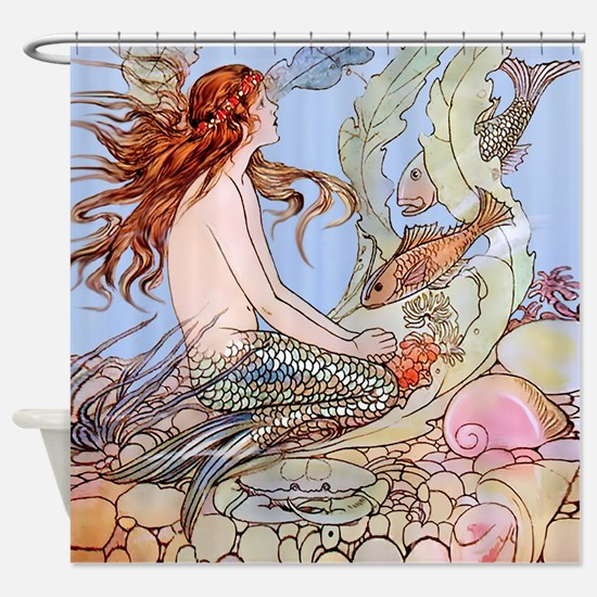 Warwick Goble Mermaid! Kids Shower Curtain