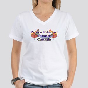 Prince Edward Island Women's V-Neck T-Shirt