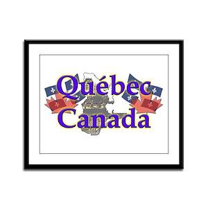 Québec Framed Panel Print
