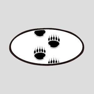 Black Bear Paw Prints Patches