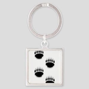 Black Bear Paw Prints Keychains