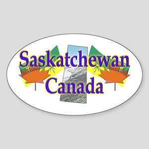 Saskatchewan Oval Sticker