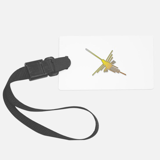 Golden Nazca Lines Hummingbird Luggage Tag