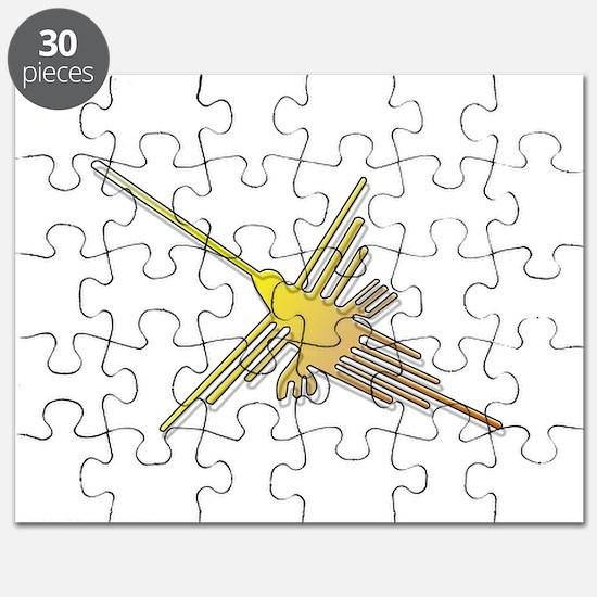 Golden Nazca Lines Hummingbird Puzzle