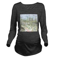Many Saguaros Recrea Long Sleeve Maternity T-Shirt