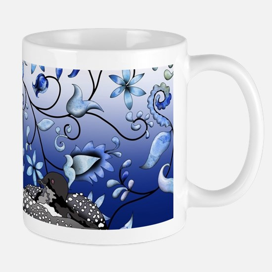 Blue Onion Loon Mugs