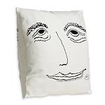 Bashful Bliss Burlap Throw Pillow