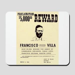 Wanted Pacho Villa Mousepad