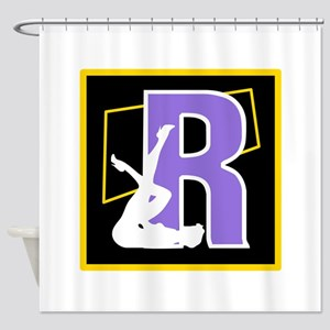 Naughty Initial Design (R) Shower Curtain