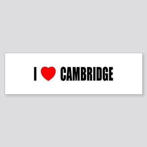 I Love Cambridge Bumper Sticker