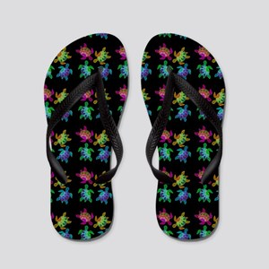 Painted Turtles Flip Flops