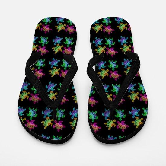 Painted Turtles Flip Flops
