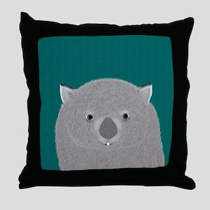 Wombat Throw Pillow