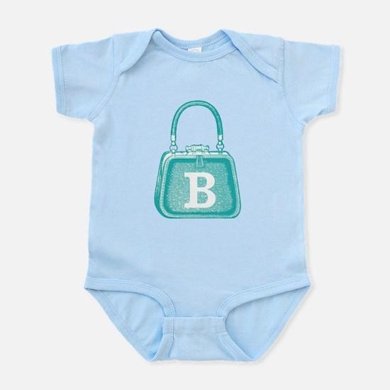 MONOGRAM Vintage Purse Blue Graphi Infant Bodysuit