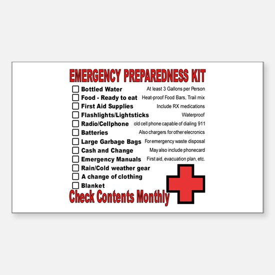 Emergency Preparation Rectangle Decal