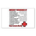 Emergency Preparation Rectangle Sticker