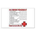 CHILD Emergency Preparation Rectangle Sticker