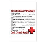 INFANT/TODDLER Emergency Preparation Postcards (Pa