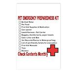 PET Emergency Preparation Postcards (Package of 8)