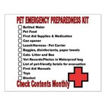 PET Emergency Preparation Small Poster
