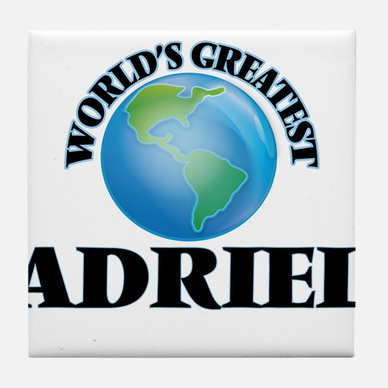 World's Greatest Adriel Tile Coaster