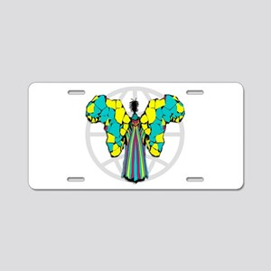 African Butterfly Aluminum License Plate
