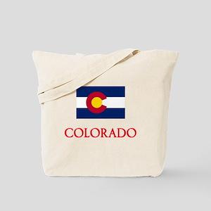 Colorado Flag Design Tote Bag