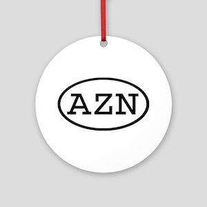 AZN Oval Ornament (Round)