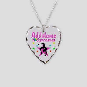 GYMNAST GIRL Necklace Heart Charm