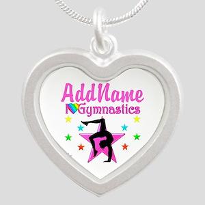 GYMNAST GIRL Silver Heart Necklace