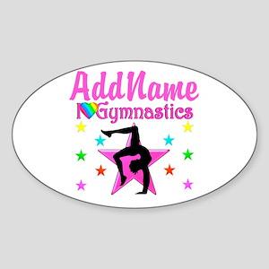 GYMNAST GIRL Sticker (Oval)