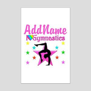 GYMNAST GIRL Mini Poster Print