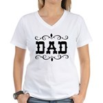 Dad - Father's Day - Women's V-Neck T-Shirt