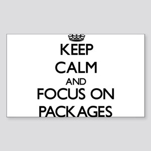 Keep Calm and focus on Packages Sticker