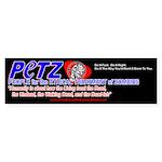 PETZ -Zombie Activism Bumper Sticker