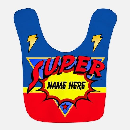 Superhero Comic Book Bib