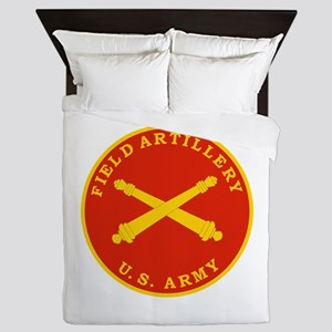Field Artillery Seal Plaque Queen Duvet