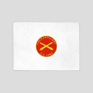 Field Artillery Seal Plaque 5'x7'Area Rug