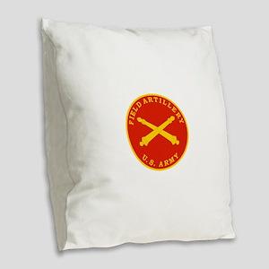 Field Artillery Seal Plaque.pn Burlap Throw Pillow