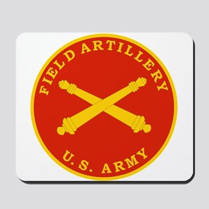 Field Artillery Seal Plaque Mousepad
