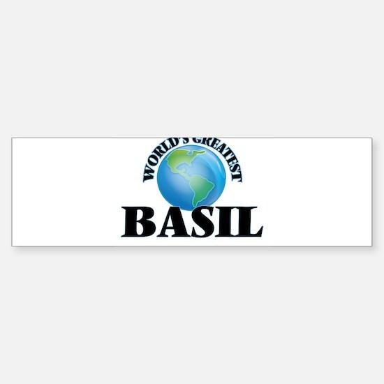 World's Greatest Basil Bumper Bumper Bumper Sticker
