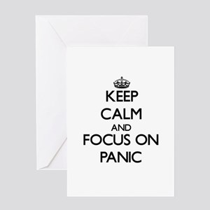 Keep Calm and focus on Panic Greeting Cards