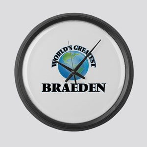 World's Greatest Braeden Large Wall Clock