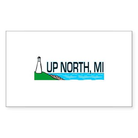 Up North, Michigan Rectangle Sticker