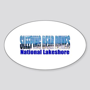 Sleeping Bear Dunes National Oval Sticker