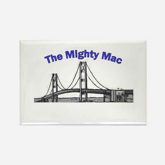 The Mighty Mac Rectangle Magnet