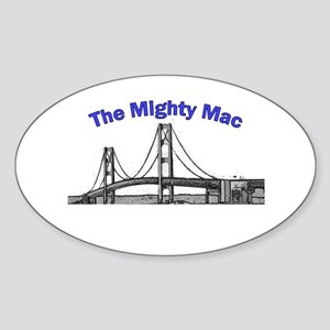 The Mighty Mac Oval Sticker