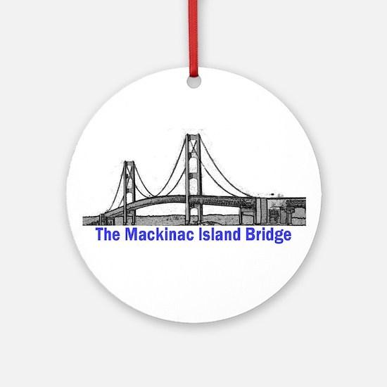The Mackinac Bridge Ornament (Round)