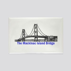 The Mackinac Bridge Rectangle Magnet