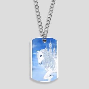 The White Unicorn Dog Tags
